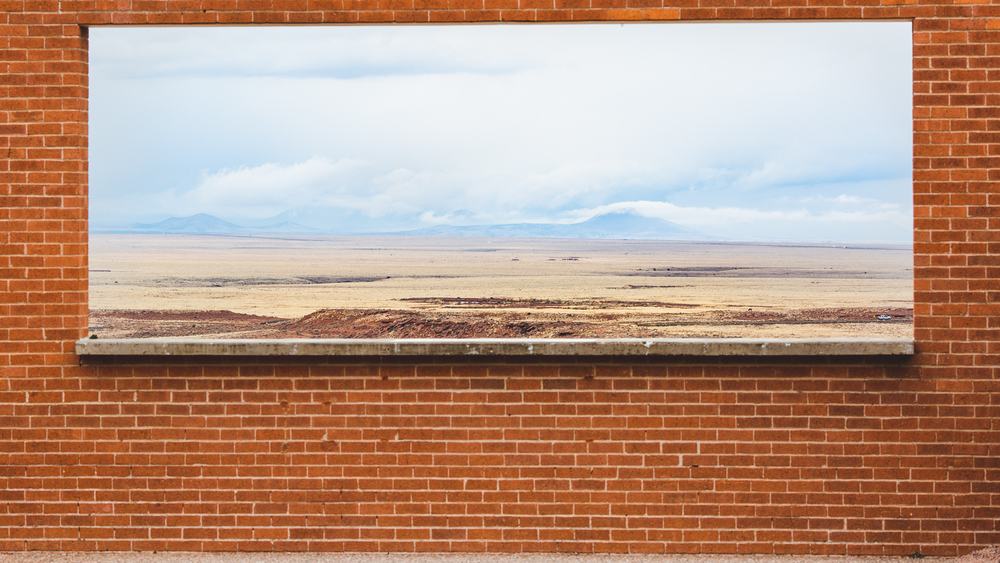 brick window meteor crater