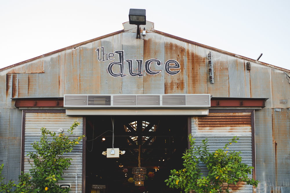 the duce sign above entrance phoenix hj
