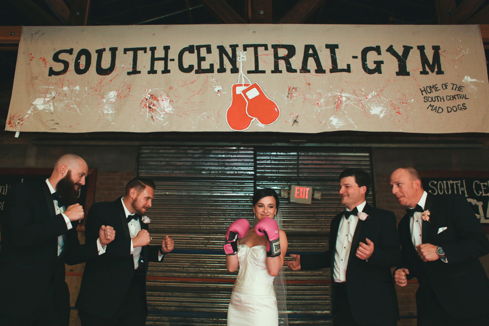 bride ready to fight off groomsmen boxing ring the duce phoenix hj