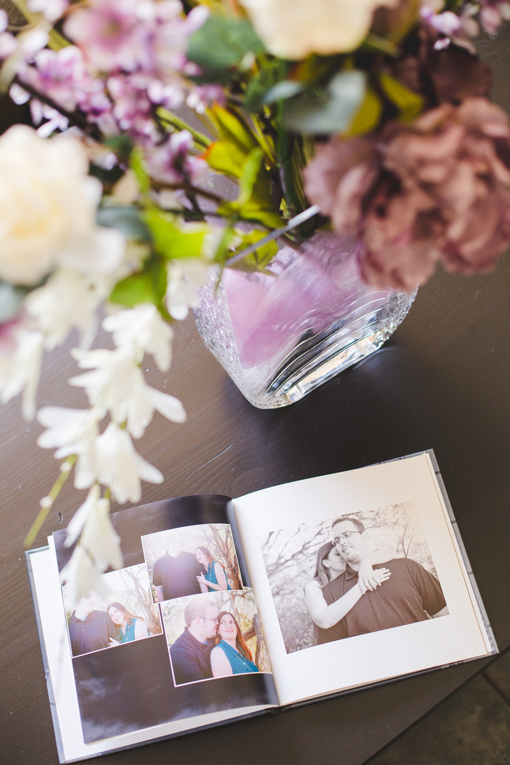 sd flowers and engagement book