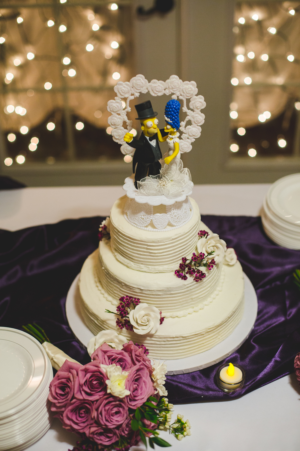 awesome simpsons wedding cake sd
