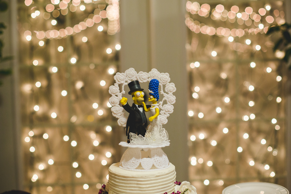awesome simpsons wedding cake topper sd