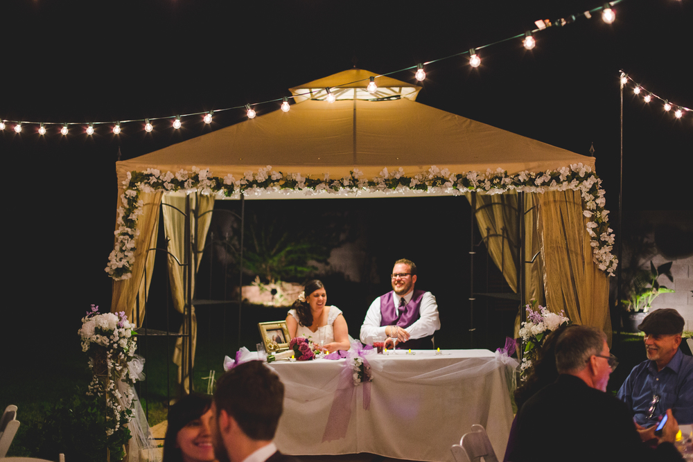 wedding reception tent for bride and groom sd