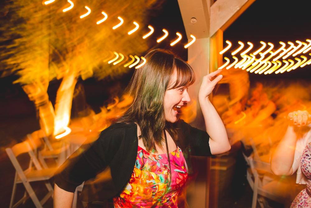 wedding attendee dancing and having fun sd