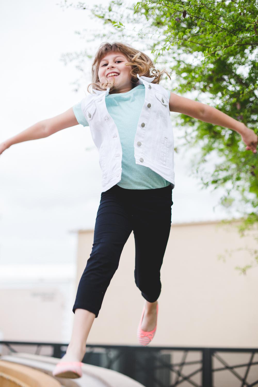 vote family eldest daughter jumping around