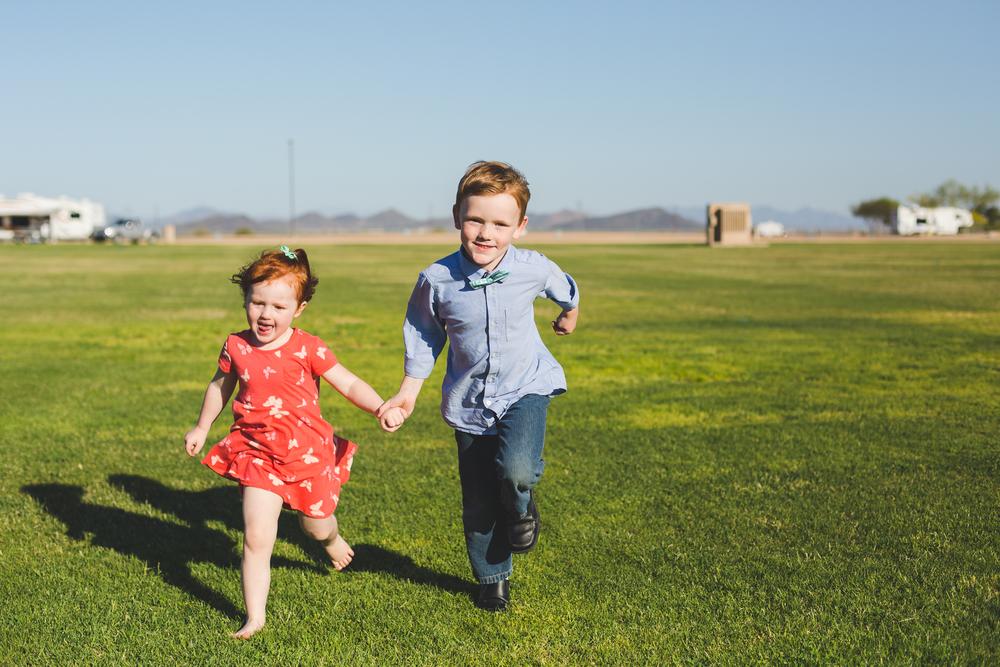 kids show off their running skills