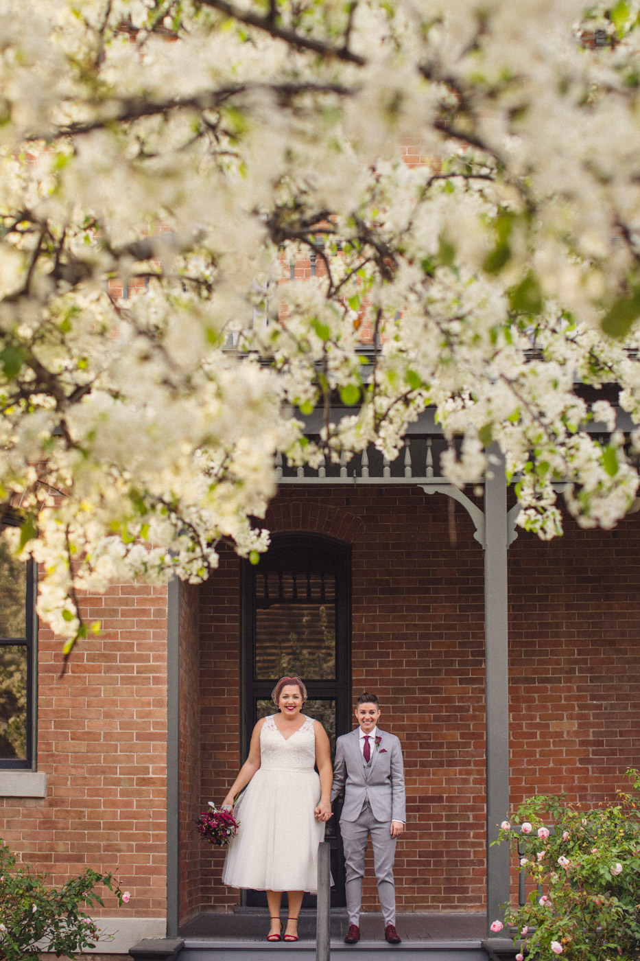heritage-square-wedding-portrait-cherry-blossoms