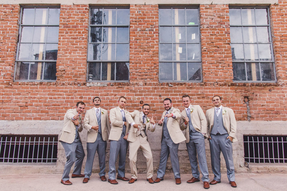 groom-and-groomsmen-acting-tough