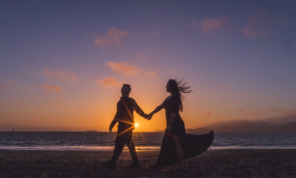 baker-beach-engagement-session-sunset