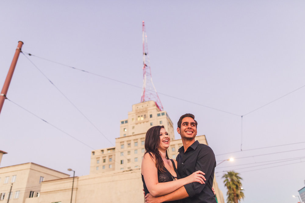 downtown-phoenix-westward-ho-engagement-photo