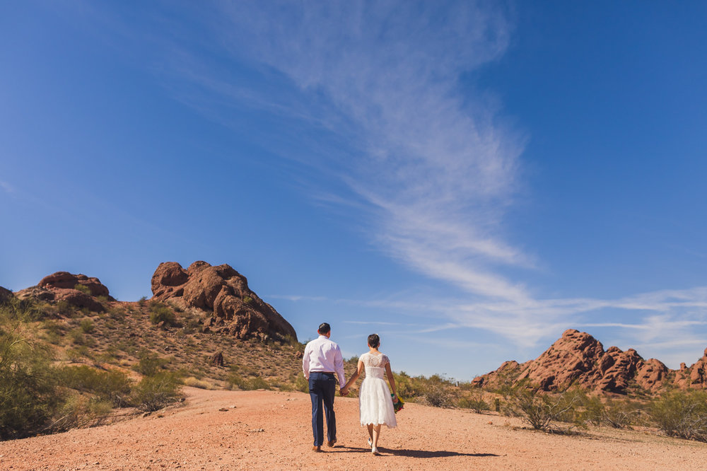 ruby-and-cristian-walking-in-papago-park