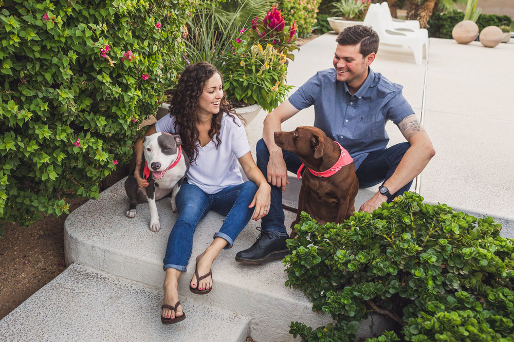 home-engagement-session-with-dogs