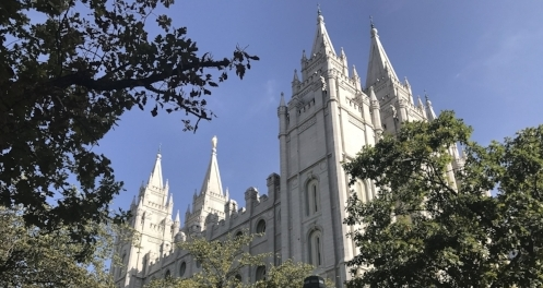 Salt Lake City Temple Square.