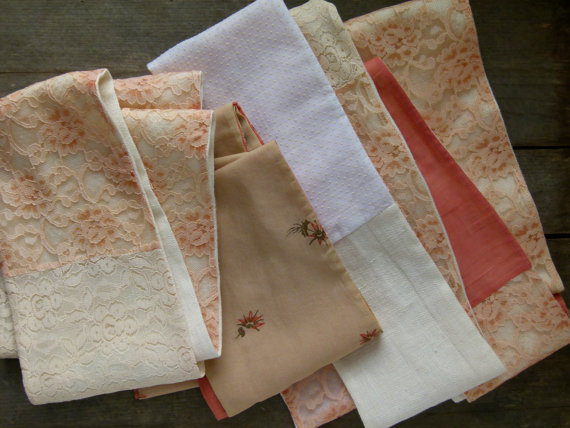 hand-pieced scarves