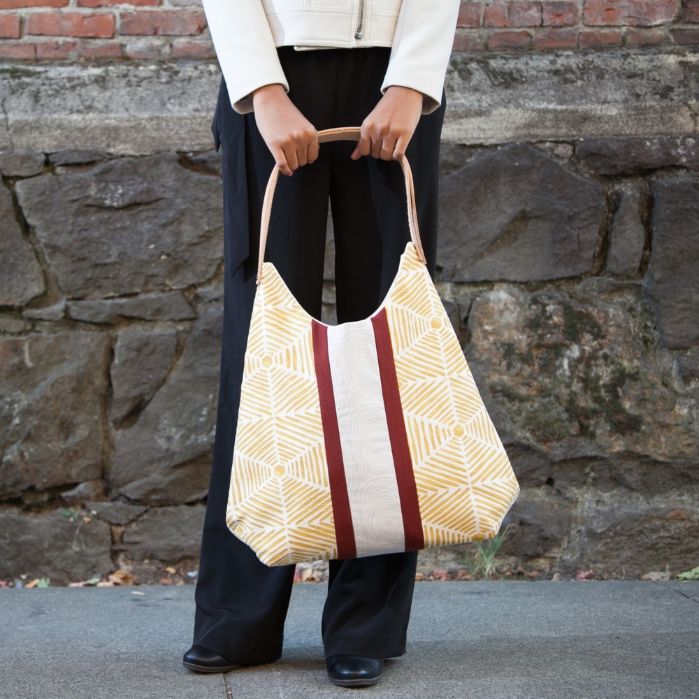 Golden Abstraction Tote