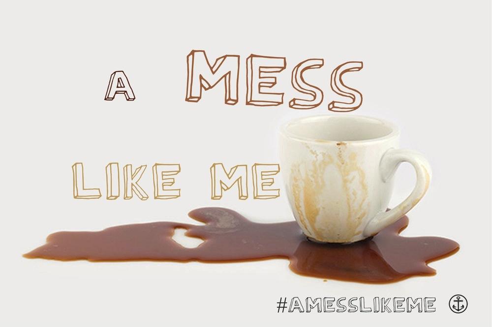 A Mess Like Me Sermon Series coffee cup spilled coffee
