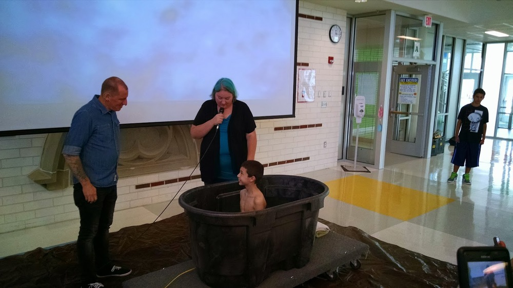 Val speaking during Baptism