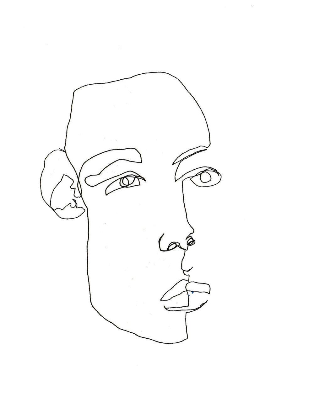 Contour Line Drawing Job : Blind contour line drawing february james