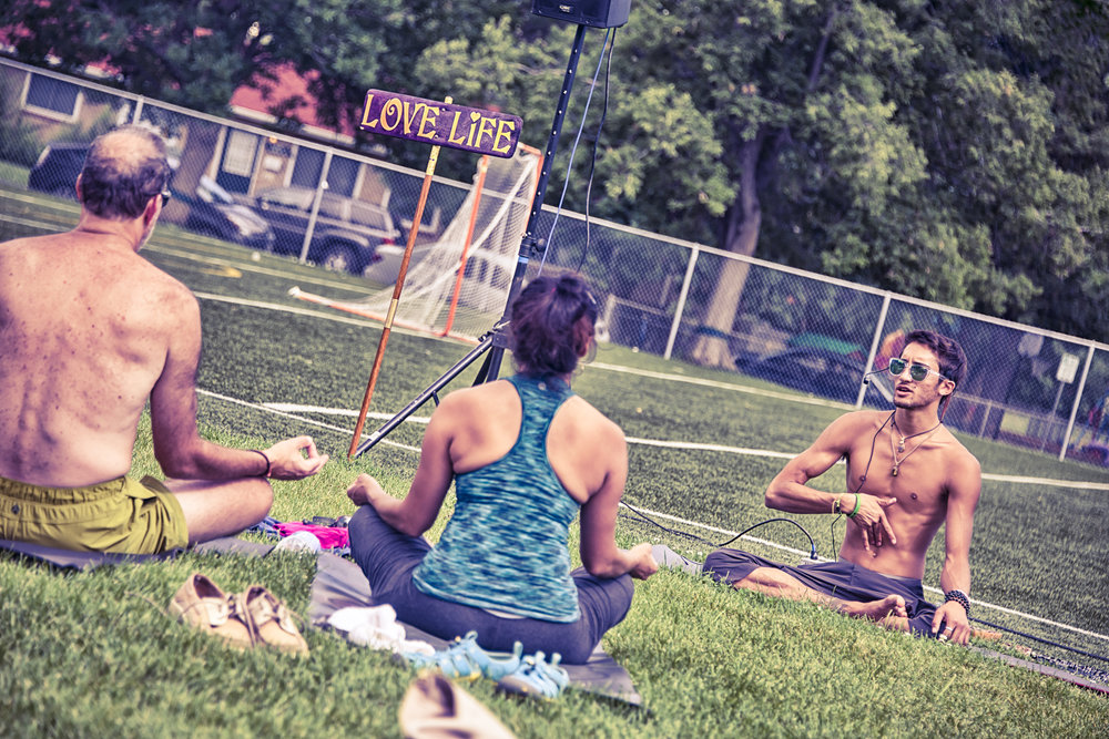 Yoga Rocks the Park Boulder