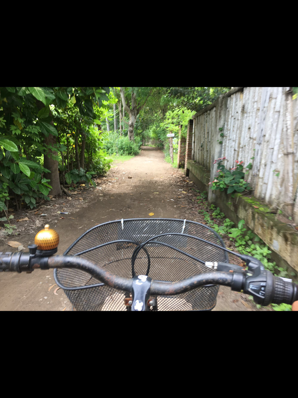 Burning man Feels while biking through the roads of a Gili Air! )'(