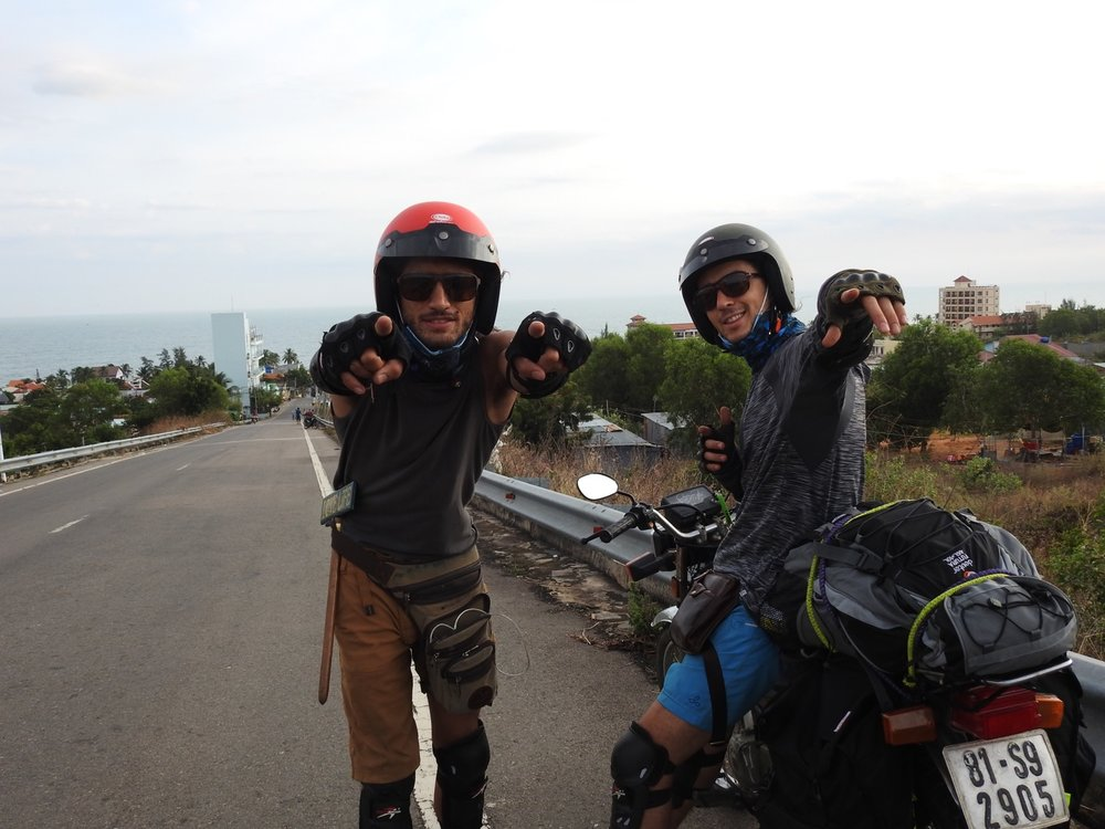Somewhere along the southwestern coast of Vietnam with Soul Brother Kiefer Avi.