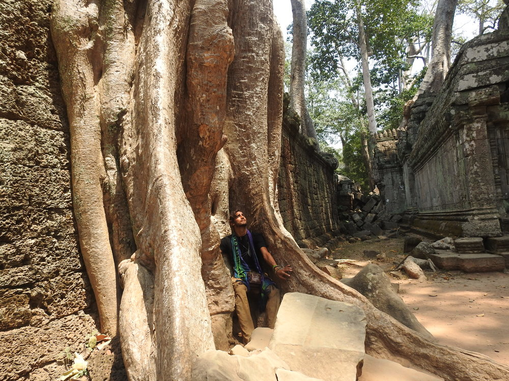 Barefoot amongst the ancient ground of Angkor Wat and surrounding temples....Earth Connection is strong here!