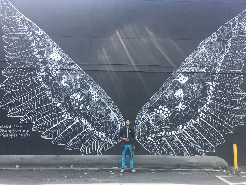 June 2017- LA. Matt reminding me of my wings....I am finally starting to fly again..