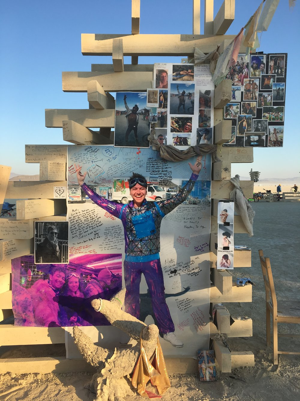 Entrance to the Temple, Burning Man 2017. Matthew Wayne Lackey.
