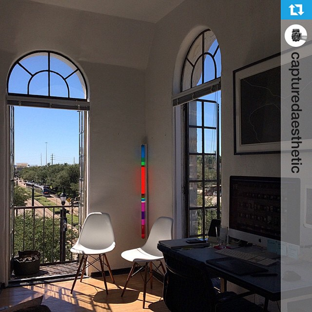 #Repost from @capturedaesthetic --- Enjoying these home office vibes on this amazing Tuesday afternoon.  Also, @andre_dejean and I had Van Loc for lunch today for the last time and I'm kind of emotional about it - gonna miss that place! Oh, and how about that @theanaurora in the corner adding some vibrant color even in mid of the day? Thanks @derrington!!