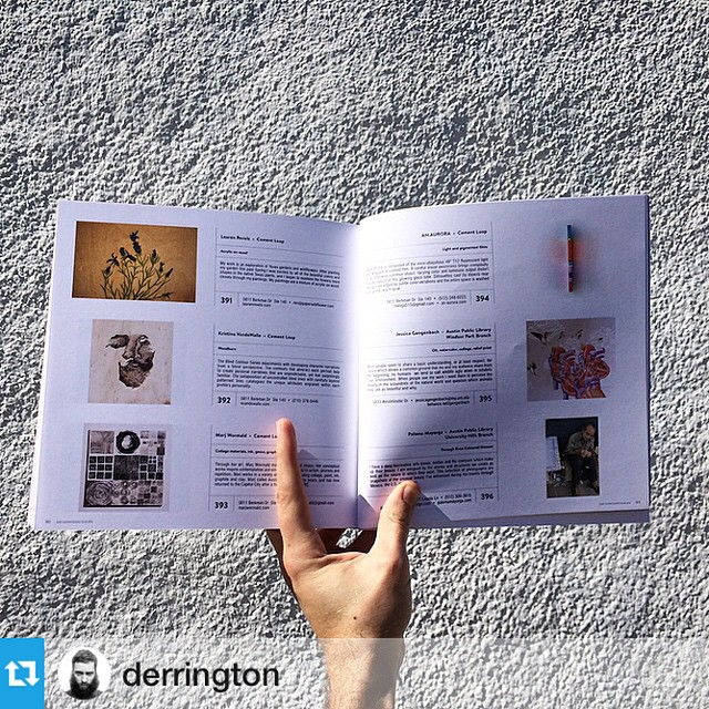 Repost from @derrington right after he picked up the #EastAustinStudioTour catalog for #EAST2014. So psyched to see AN.AURORA ready to go!