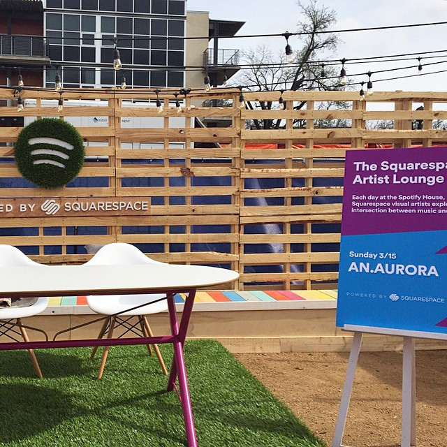 Recap from yesterday's #SXSW event. Thank you @Squarespace for powering our cool website and providing this sweet spot complete with #EamesChairs for us to work our magic at the #SpotifyHouse. Make sure to check out other local artists at the booth throughout the week!