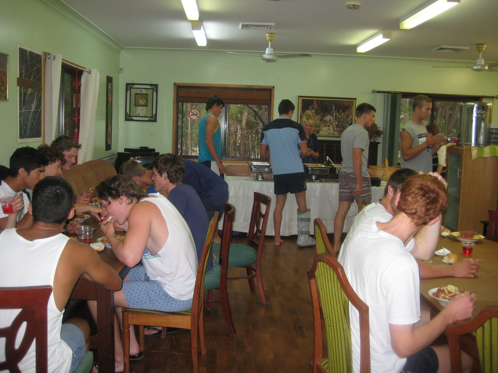 Sports House has a large dining area. We offer catering. Hungry Rowers enjoy a home cooked meal by Chef Zoe of Cottage Catering.