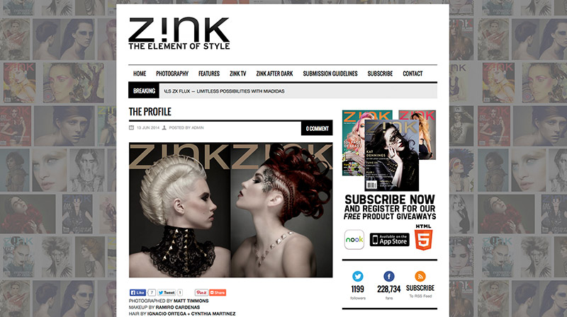 Stacia Renee (left) featured on Zink, photographed by Matt Timmons.