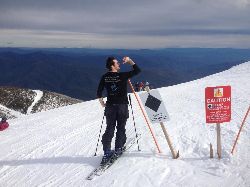 Alex on Mount Buller!