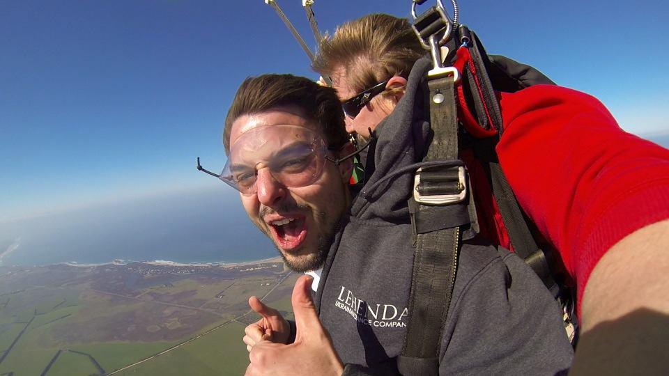 Michael Sky Diving!!