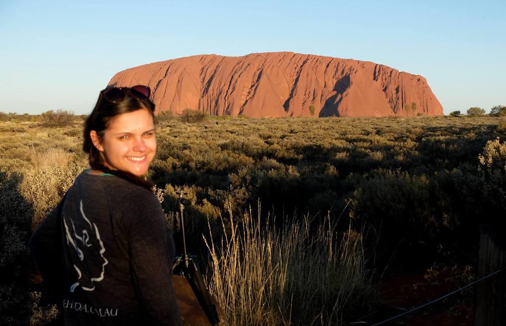 Natalia in Uluru!