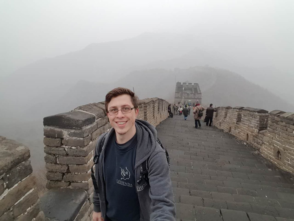 Michael at the Great Wall of China!