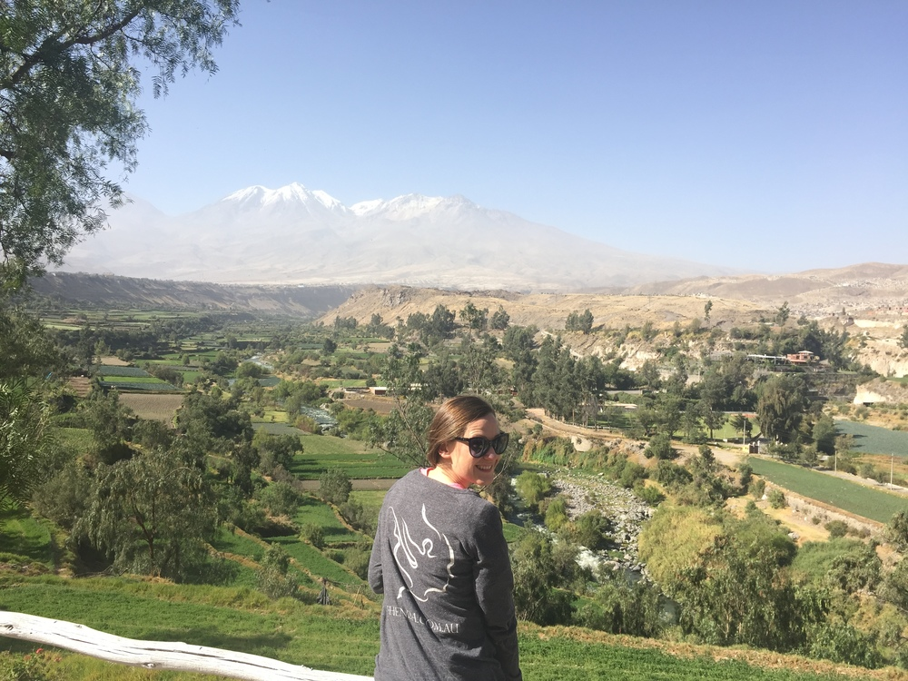 Melania in Arequipa, Peru