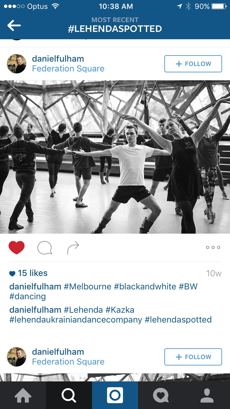 Our dancers spotted rehearsing at Federation Square