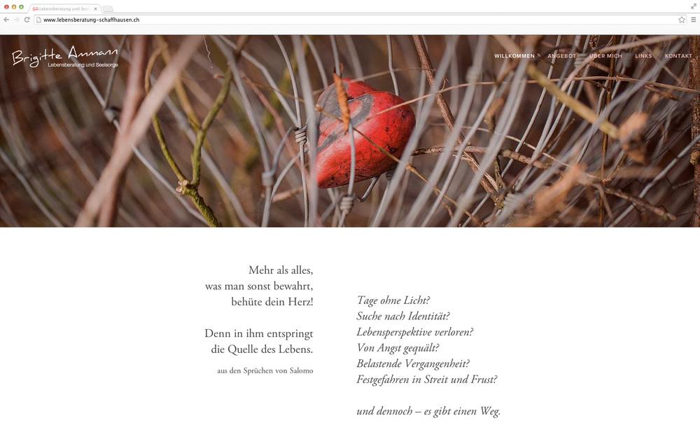 Der kleine, feine Webauftritt für Brigitte Ammann:   www.lebensberatung-schaffhausen.ch