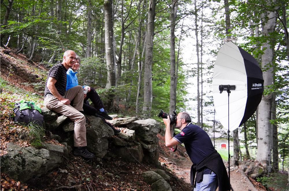 Mit dem B1 im Wald (Foto: Urs Tillmanns)
