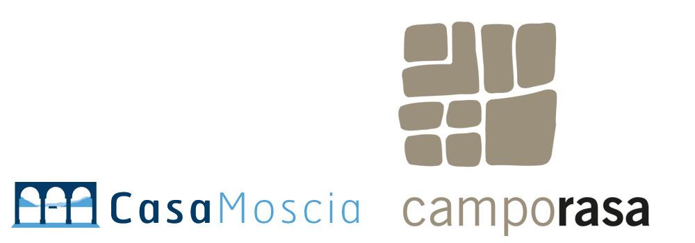 Die bestehenden Logos von Casa Moscia und Campo Rasa