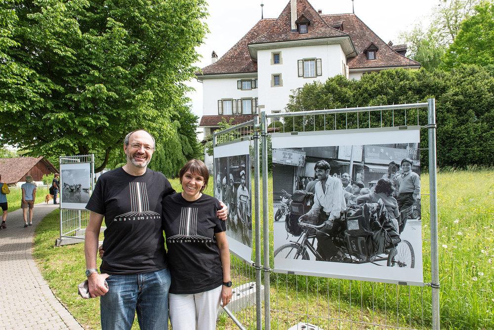 Es ist für uns eine grosse Ehre, dass unsere schwarzweiss Bilder von Indien an der Photo Münsingen ausgestellt werden (Foto: Urs Tillmanns)