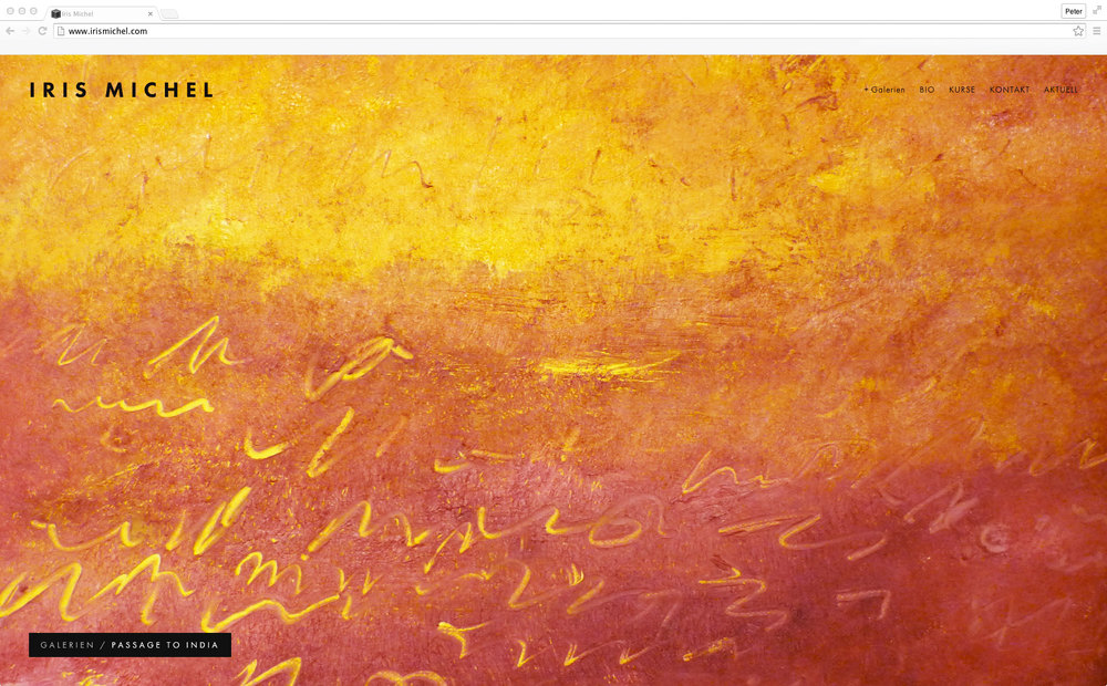 homepage von iris michel, gestaltet von werbeagentur 720 grad schaffhausen