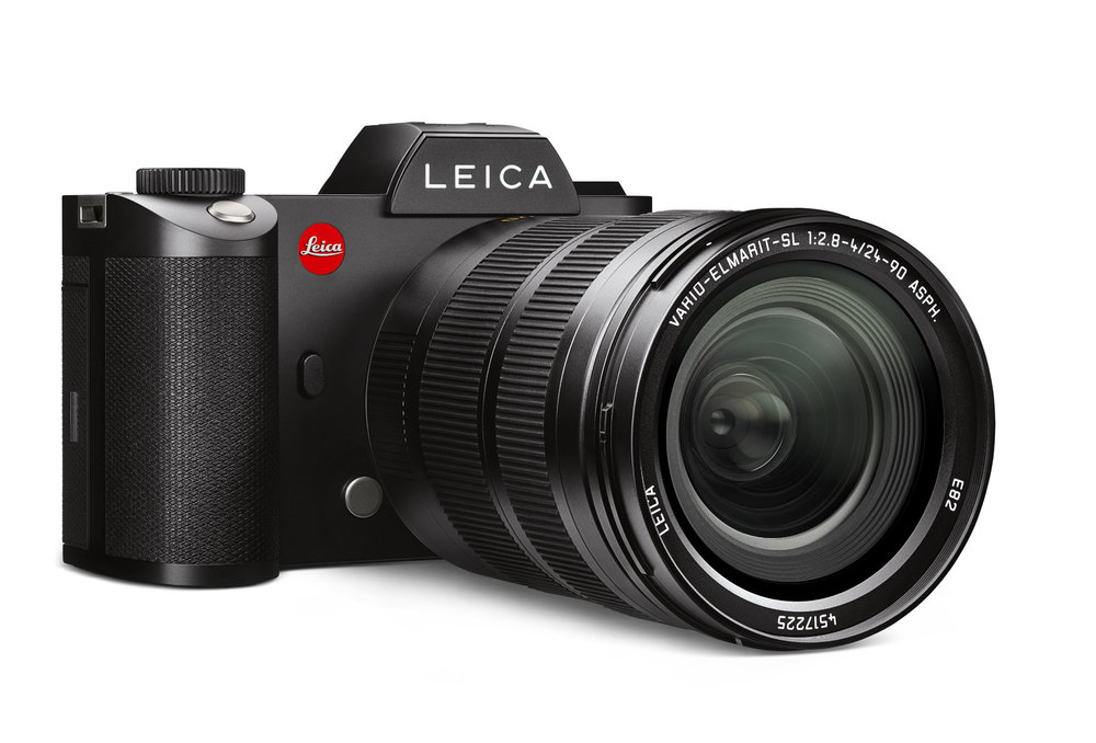 Die Leica SL mit dem Vario-Elmarit-SL 1:2.8–4/24–90 mm ASPH (Pressebild Leica)