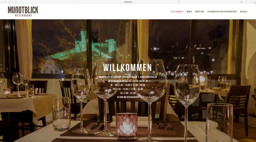 günstiges webdesign von 720 grad schaffhausen fürs restaurant munotblick