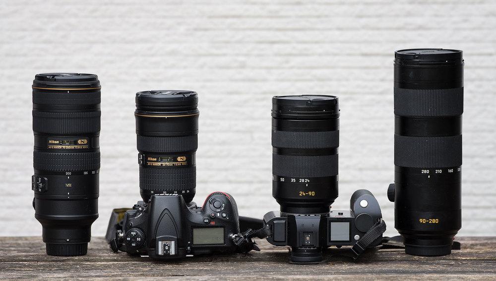 nikon d 750 und leica sl mit dem 90-280 mm objektiv