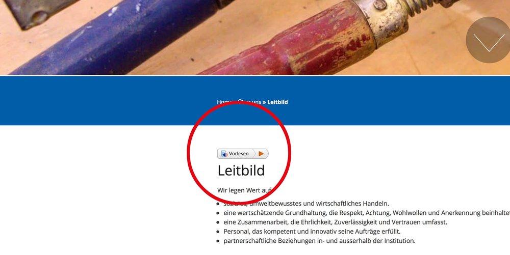 audiofunktion auf homepage umgesetzt von 720 grad schaffhausen