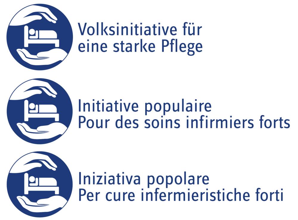 Das Logo in Deutsch, Französisch und Italienisch