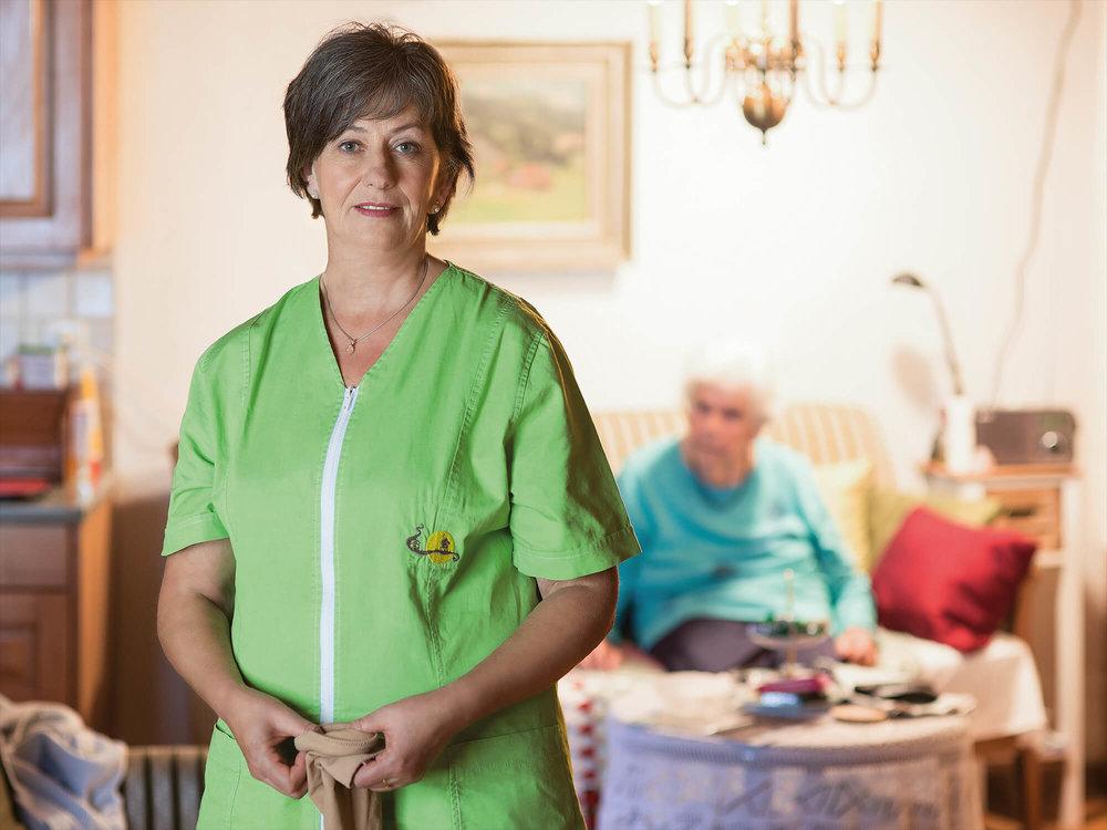 Sandra Stucki, Pflegefachfrau in der Pflege zuhause